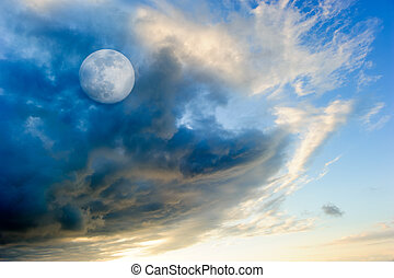 Moon Clouds - Moon clouds is a colorful surreal cloudscape...