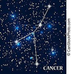 Symbol Cancer Zodiac Sign. Vector Illustration. EPS10