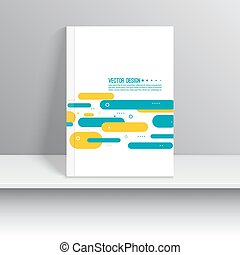 Cover for journal, magazine. Leaflet Flyer template A4 size...