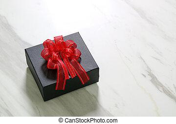 caja, gris, regalo, Plano de fondo, tabla, blanco, Dar, Un,...