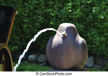 Fountain stone bird