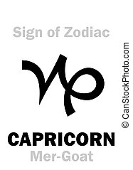 Astrology: Sign of Zodiac CAPRICORNUS (The Mer-Goat) -...
