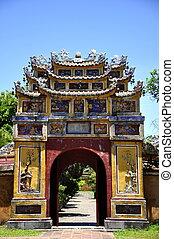 Hue Gate - Gate in Hue Citadel in Vietnam