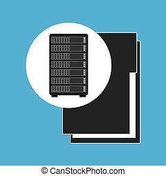 network server concept file folder vector illustration eps...
