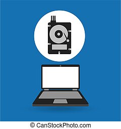 computer analysis data hard drive vector illustration eps 10