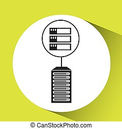 server data center connection graphic vector illustration...