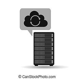 network server concept cloud backup restore - network server...