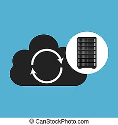 network server concept cloud backup restore - network server...