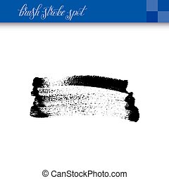 black ink abstract hand drawing brush strokes spot element...
