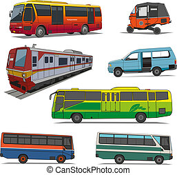 City transportation vector - Just as in the big cities in a...