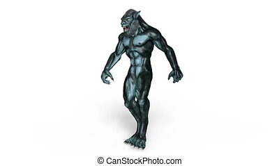 Werewolf - Image of a walking werewolf