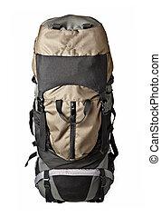 Trekking backpack isolated