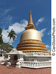 Buddhist dagoba stupa in Golden Temple, Dambulla, Sri Lanka...