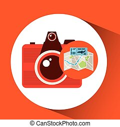 airline ticket map travel photographic camera