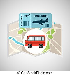 airline ticket map travel bus transportation