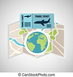 airline ticket map travel world global