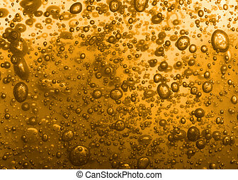 beer texture - natural beer texture with big bubbles of air