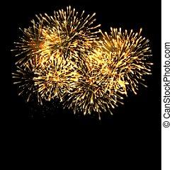 Illuminated Festive Firework, Glowing Holiday Background -...