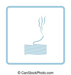 Solder wire icon. Blue frame design. Vector illustration.