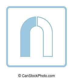 Magnet icon. Blue frame design. Vector illustration.