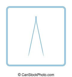 Electric tweezers icon. Blue frame design. Vector...