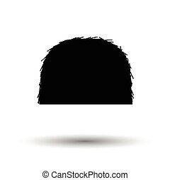 Hay stack icon. White background with shadow design. Vector...