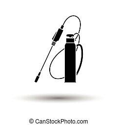 Garden sprayer icon. White background with shadow design....