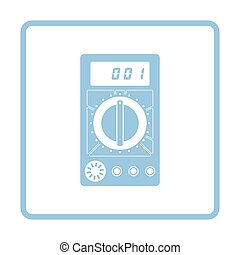 Multimeter icon. Blue frame design. Vector illustration.