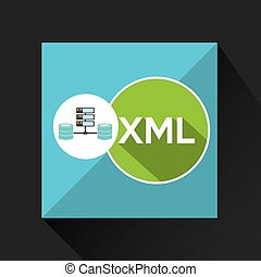 xml language data base storage vector illustration eps 10