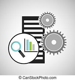 database setting statistical optimized icon vector...