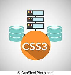 css3 language data base storage vector illustration eps 10