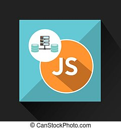 js language data base storage vector illustration eps 10