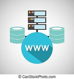 www language data base storage vector illustration eps 10