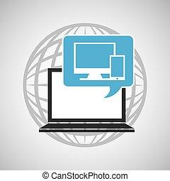 globe computer technology communication