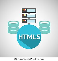 html5 language data base storage vector illustration eps 10