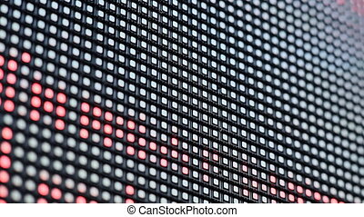 Bright colored blue LED smd screen - close up background 1