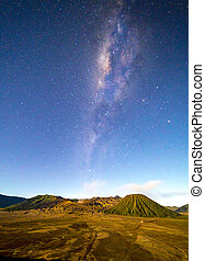 Milkyway - Milky way at Bromo mount, Indonesia