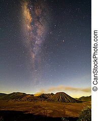 Milkyway at bromo mount, Indonesia