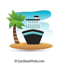 tropical vacation beach boat cruise travel