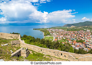 Fortress of tzar Samuel in Ohrid - Old fortress ruins of...