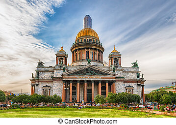 ISAAC,  ST,  iconic, são, catedral,  Petersburg,  rússia