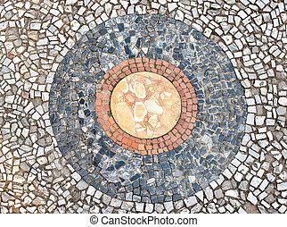 Tivoli, Itália, vila, chão, dentro,  d'este, mosaico