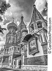 quadrado,  basil's, Moscou, são, catedral,  rússia, vermelho