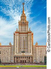 predios, universidade,  lomonosov, estado, Moscou,  rússia