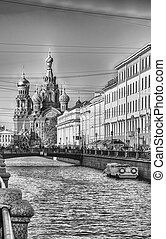 ST, rússia, salvador, igreja, Petersburg, sangue, derramado...