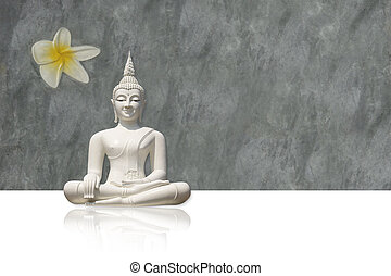 Buddha, isolated (clipping path) - Isolated white buddha...