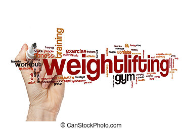Weightlifting word cloud concept - Weightlifting word cloud
