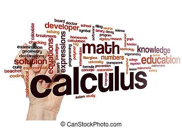 Calculus word cloud