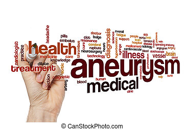 Aneurysm word cloud concept - Aneurysm word cloud