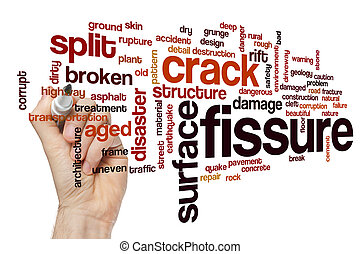 Fissure word cloud concept